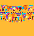 seamless pattern with garland flags vector image vector image