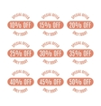 Set of discount labels vector image