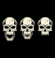 set skull black vector image