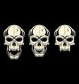 set skull black vector image