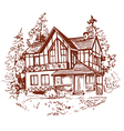 sketch of house prewew vector image