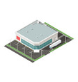 Supermarket isometric isons set vector image