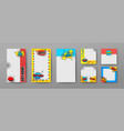 templates for social networks advertising set vector image vector image