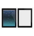 Two tablet pc on white background vector image vector image