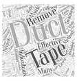 Wart Removal with Duct Tape Does It Really Work vector image vector image