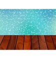 Water background and wooden vector image vector image