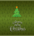 we wish you a merry christmas tree background vector image vector image