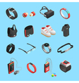 Wearable Technology Isometric Icons Set vector image vector image