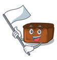 with flag brownies mascot cartoon style vector image vector image