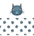 Wolf Head Icon And Pattern vector image vector image