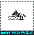 Yacht icon flat vector image vector image
