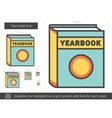 Year book line icon vector image