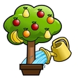 Watering the fruit tree 2 vector image
