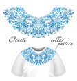design for collar t-shirts and blouses vector image