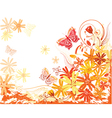 summer flowers card vector image