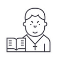 pastor line icon sign on vector image
