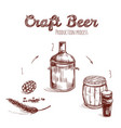 brewing process hand drawn concept vector image