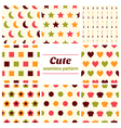 Set of cute seamless patterns vector image