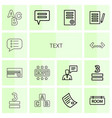 14 text icons vector image vector image