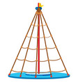 a playground equipment on white background vector image vector image