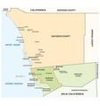 administrative map san diego-tijuana vector image
