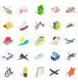 amazing toy icons set isometric style vector image vector image