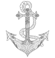 Anchor Coloring for adults vector image vector image