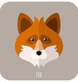 Animal Portrait With Flat Design Fox vector image vector image