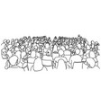 audience in lecture hall sketch vector image vector image