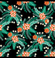 background poinsettia christmas flower vector image vector image