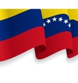 Background with waving Venezuelan Flag vector image vector image