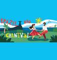 brazil carnival horizontal banner vector image vector image