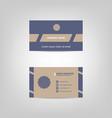 Business card classic design template