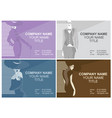 business cards with fashion woman vector image vector image