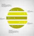 Circle horizontaly divided to five green parts on vector image vector image