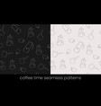 coffee preparation seamless patterns great design vector image