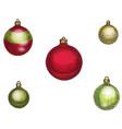 colorful christmas balls set vector image vector image