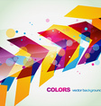 colorful eps10 abstract background vector image vector image
