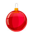 colour christmas red ball isolated on white vector image vector image