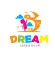 dream logo designs vector image vector image