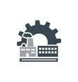 factory logo design vector image vector image