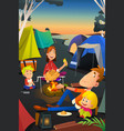 family camping outdoor vector image