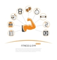 Fitness and Gym Concept vector image vector image