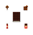 flat icon sweet set of cocoa delicious dessert vector image vector image
