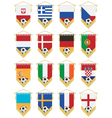 football flag pennants vector image vector image