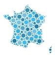 France map mosaic of circles vector image