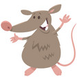 funny rat rodent animal character vector image