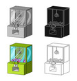 game terminal with toys terminal single icon in vector image vector image