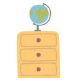 geography object globe sign classroom vector image vector image