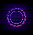 glowing neon black hole icon isolated on brick vector image vector image